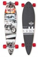 Duster Go Longboard Black White 34""