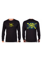 Naish Long T-Shirt Skull Black